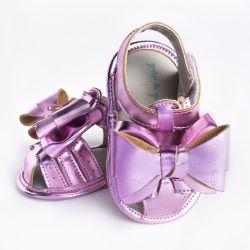 Sandália de Bebê Maxi Laço Glow Rosé