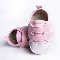 Tênis Bebê Casual Velcro Duplo Rosa