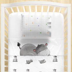 Jogo Lençol de Berço Hipopótamo 3 peças