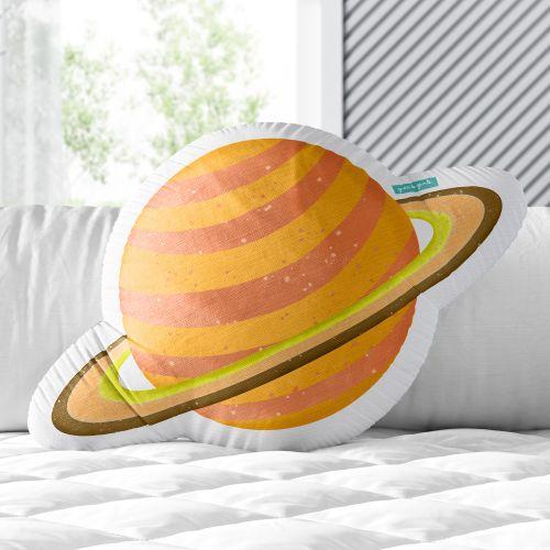 Almofada Saturno Amarelo 33cm