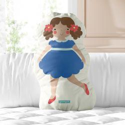 Almofada Boneca Menina Flor Melissa 33cm