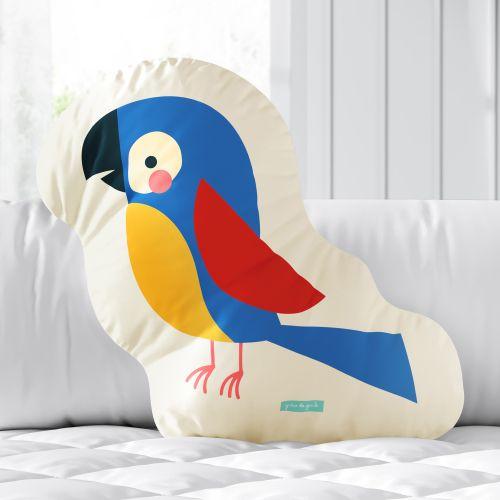 Almofada Arara Colorida 33cm