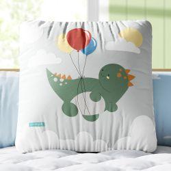 Almofada Quadrada Amiguinho Dino Pepe e o Balão 33cm