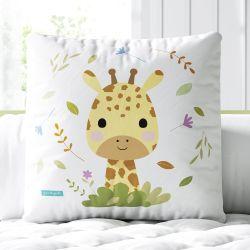 Almofada Quadrada Amiguinha Girafa Baby 33cm