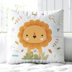 Almofada Quadrada Amiguinho Leão Baby 33cm