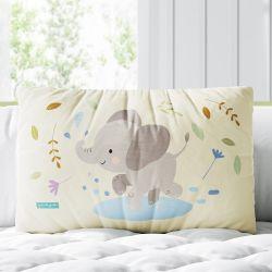 Almofada Retangular Amiguinho Elefante Baby 39cm