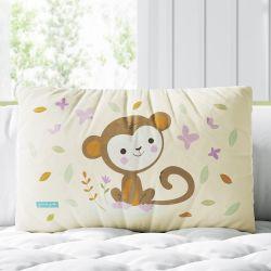 Almofada Retangular Amiguinho Macaco Baby 39cm