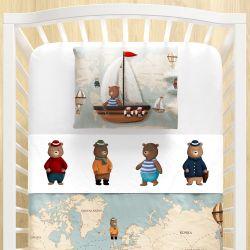 Jogo Lençol de Berço Teddy Pelo Mundo 3 peças