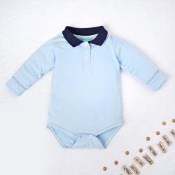Body Manga Longa Gola Polo Azul Bebê e Marinho