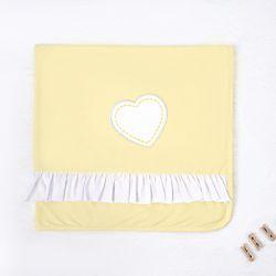 Manta Coração de Princesa Amarelo 80cm