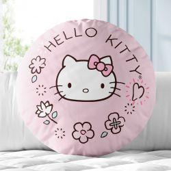 Almofada Redonda Hello Kitty Rosa 30cm