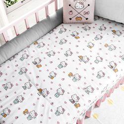 Edredom de Berço Hello Kitty Branco