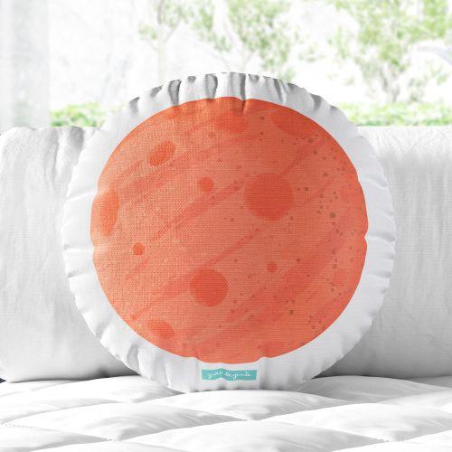 Almofada Redonda Planeta Marte 33cm