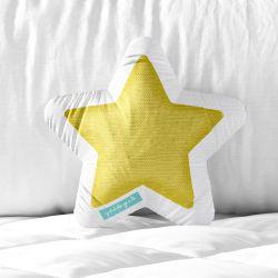 Almofada Estrela Sirius Amarelo 33cm