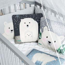 Kit Berço Dobrável 2 em 1 Ursinho Polar