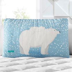 Almofada Retangular Mamãe e Bebê Ursinho Polar 39cm