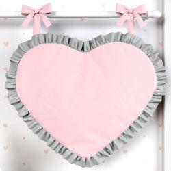 Porta Fraldas Coração Rosa e Cinza