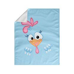 Cobertor Dupla Face com Plush Galinha Pintadinha Azul