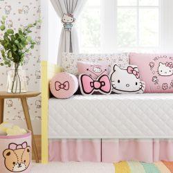 Kit Cama Babá Hello Kitty Branco e Rosa