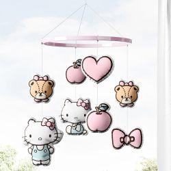 Móbile Hello Kitty, Tiny Chum, Laço, Coração e Maçã