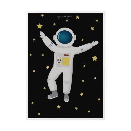 Quadro Astronauta 34cm