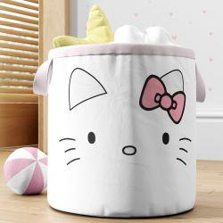 Cesto Organizador para Brinquedos Hello Kitty 35cm