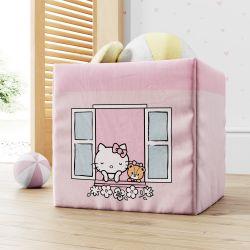 Cesta Organizadora para Brinquedos Hello Kitty na Janela 33cm