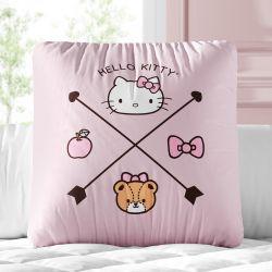 Almofada Quadrada Hello Kitty Rosa 30cm