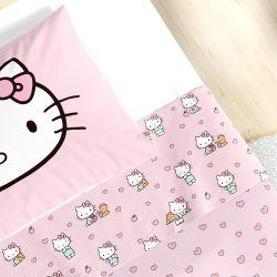 Jogo de Lençol Infantil Solteiro Hello Kitty 3 Peças