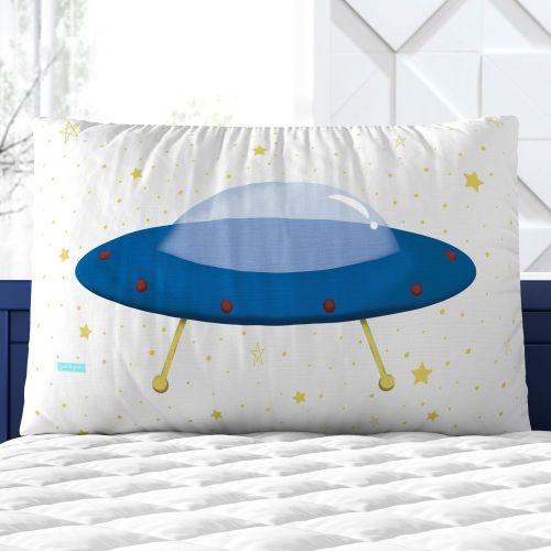 Almofada Retangular Disco Voador Azul