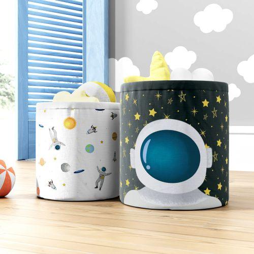 Cestos Organizadores para Brinquedos Astronauta