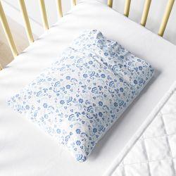 Fronha Bebê Floral Liberty Azul
