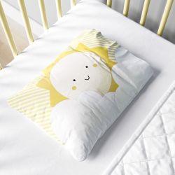 Fronha Bebê Nuvem de Algodão e Sol Amarelo
