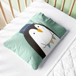 Fronha Bebê Pinguim Maquinista Verde