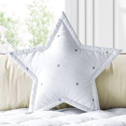 Almofada Estrela Estrelinha Branco e Cinza 30cm