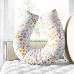 Almofada Amamentação Buquê de Flores Colorido
