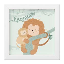 Quadro Amiguinho Mico-Leão-Dourado Proteção 18cm