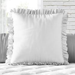 Almofada Quadrada Babadinho Branco 33cm