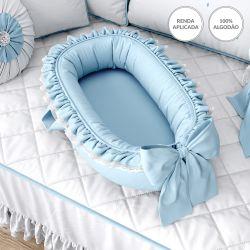 Ninho para Bebê Redutor de Berço Azul Clássico 80cm