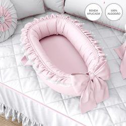 Ninho para Bebê Redutor de Berço Rosa Clássico 80cm