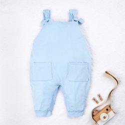 Jardineira Baby Basics Azul Bebê