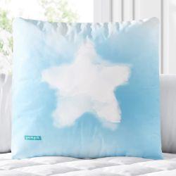 Almofada Quadrada Tie Dye Estrela Azul 33cm