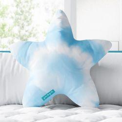 Almofada Estrela Tie Dye Azul 33cm