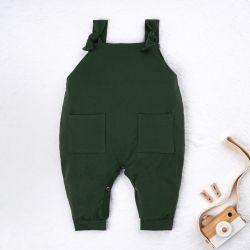 Jardineira Baby Basics Verde Musgo
