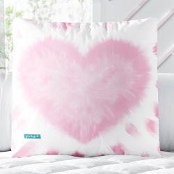 Almofada Quadrada Coração Tie Dye Rosa 33cm