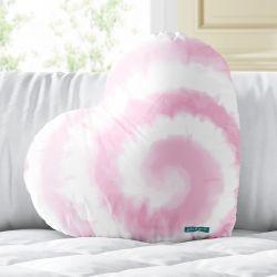 Almofada Coração Tie Dye Rosa 33cm