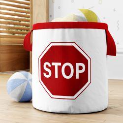 Cesto Organizador para Brinquedos Stop Vermelho 24cm