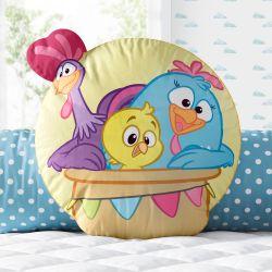 Almofada Turma da Galinha Pintadinha no Balão 32cm