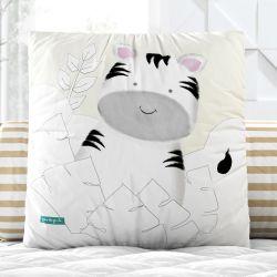 Almofada Quadrada Amiguinha Zebra Verde 33cm