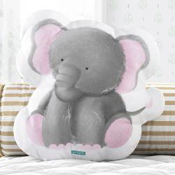 Almofada Amiguinho Elefante Aquarela 33cm